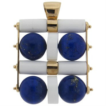 image of Large Giorgio Facchini Lapis Lazuli Rose Gold Kinetic Pendant