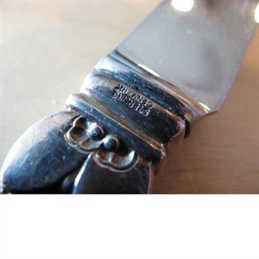 thumbnail image of Georg Jensen Cactus Sterling 2 Prong Cheese Bar Knife