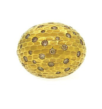 thumbnail image of Pomellato Duna 18k Gold Diamond Dome Ring