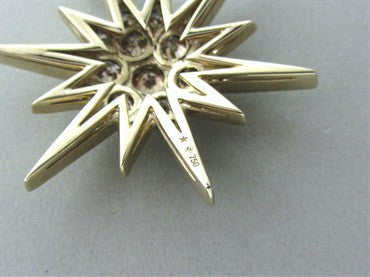 image of H Stern 18K Yellow Gold Diamond Star Pendant Necklace