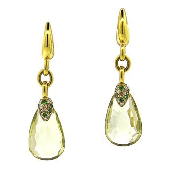 image of Pomellato Pin Up Lemon Citrine Tsavorite Diamond Earrings