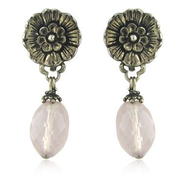 image of Stephen Dweck Sterling Silver Gemstone Drop Earrings