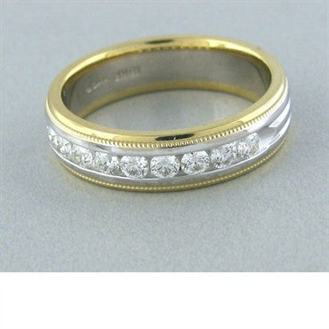 thumbnail image of Hearts On Fire Ladies Duets Milgrain Diamond Band Ring