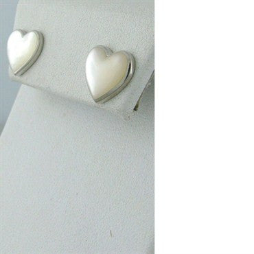 thumbnail image of Kabana 14k Gold Mother Of Pearl Heart Earrings