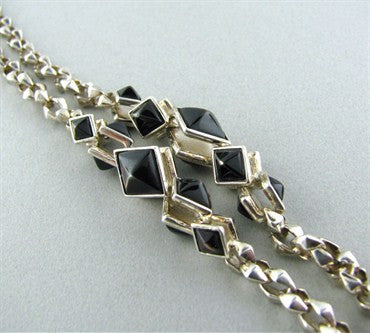 thumbnail image of Stephen Webster Sterling Silver Black Mother Of Pearl Necklace