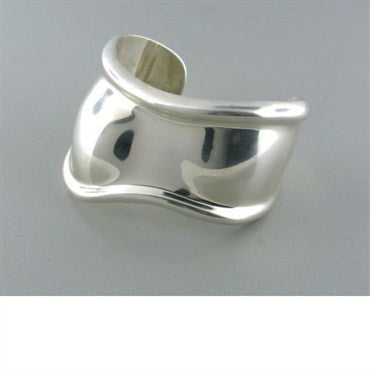 image of Tiffany & Co Elsa Peretti Sterling Bone Cuff Bracelet