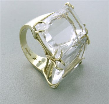 image of H. Stern Cobblestone Two Stone 18k Gold Diamond Ring