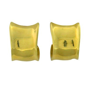 image of Robert Lee Morris 18K Gold Hoop Earrings