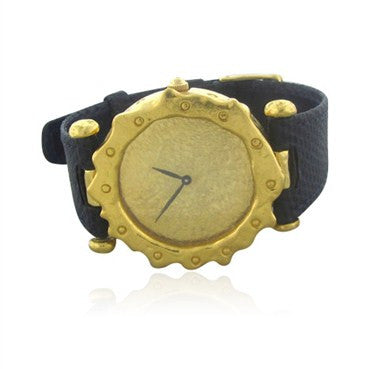 image of Jean Mahie Modernist 18K Yellow Gold Watch