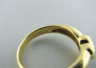 image of Tiffany & Co 18K Gold Diamond Heart Ring