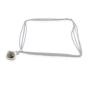 image of New Krypell Sterling 14k Gold Quartz Necklace