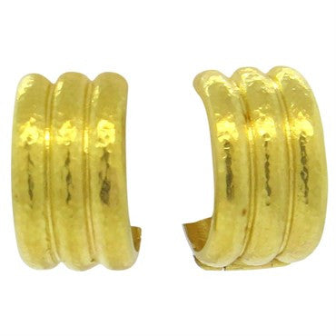 image of Elizabeth Locke 18k Gold Hoop Earrings