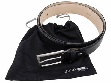 thumbnail image of ST Dupont Black Leather Casual Chic Belt 7860000