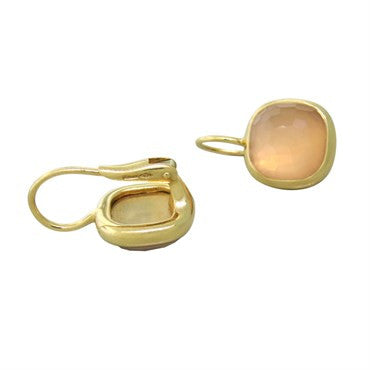 thumbnail image of Pomellato Cipria 18k Gold Rose Quartz Earrings