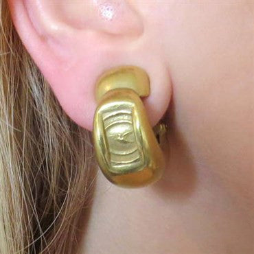 thumbnail image of Massive Kieselstein Cord 18k Gold Hoop Earrings