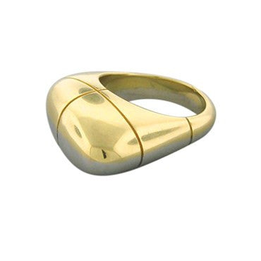 thumbnail image of New Fred Paris 18K Yellow And White Gold Ring