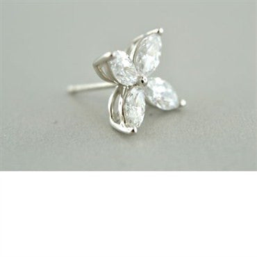 thumbnail image of Tiffany & Co Victoria Platinum 2.00ct Diamond Earrings