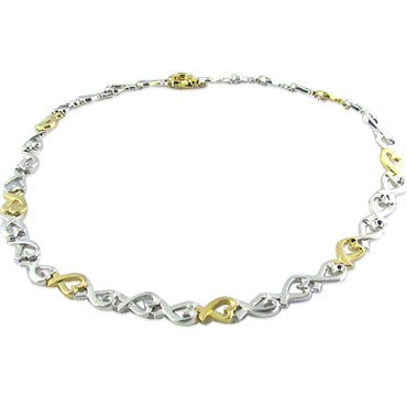 image of Tiffany & Co Loving Hearts 18k Gold Sterling Necklace
