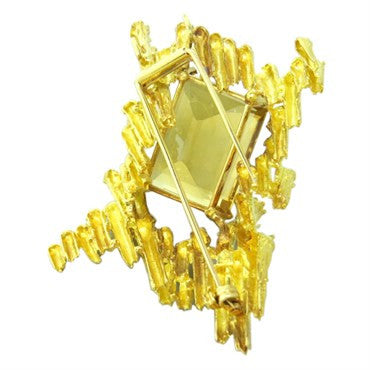 thumbnail image of 1970s H. Stern Citrine 18K Gold Brooch Pin