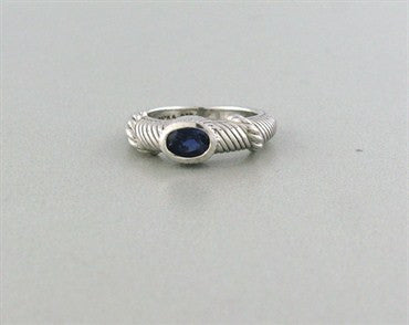 thumbnail image of Estate Judith Ripka Sterling Silver Iolite Ring