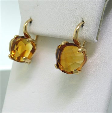 thumbnail image of New Pomellato Lola 18k Gold Madeira Citrine Earrings