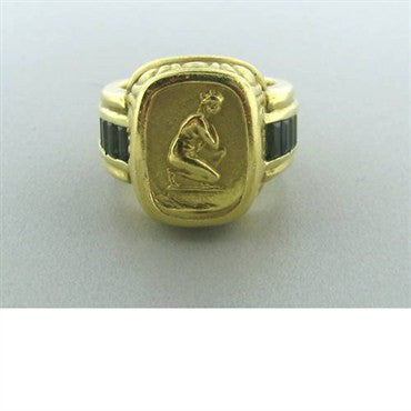 thumbnail image of Seidengang 18k Gold Green Tourmaline Ring