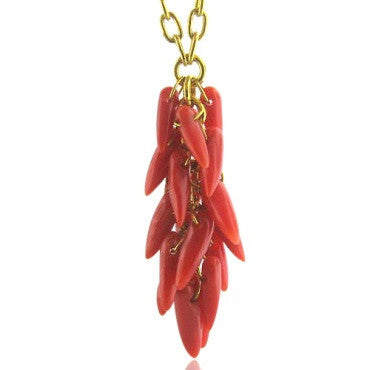 thumbnail image of New Gurhan 24k Gold Coral Necklace