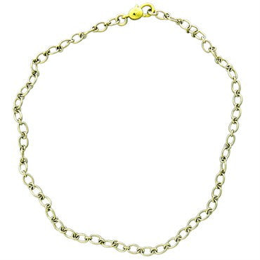 image of New Pomellato 18k Gold Oval Link Chain Necklace