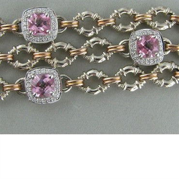 thumbnail image of Krypell Sterling 14k Gold Tourmaline Diamond Bracelet