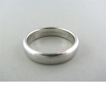 thumbnail image of Estate Tiffany & Co Platinum Lucida Wedding Band Ring
