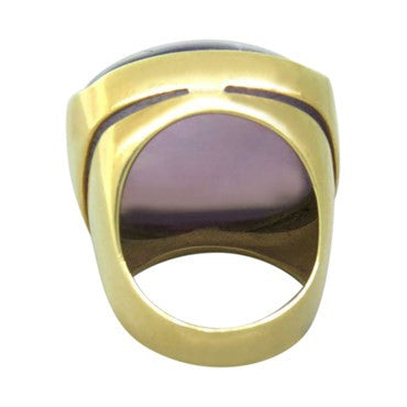 image of Eva Nueva 18k Gold Amethyst Cocktail Ring