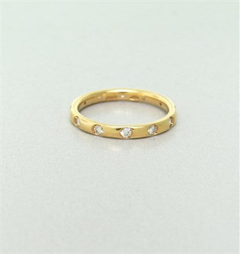 thumbnail image of New Pomellato Lucciole 18k Gold Yellow Gold Diamond Band Ring Size 50