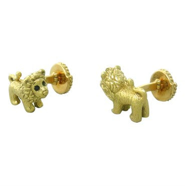 image of Mish New York Sapphire Gold Lion Cufflnks