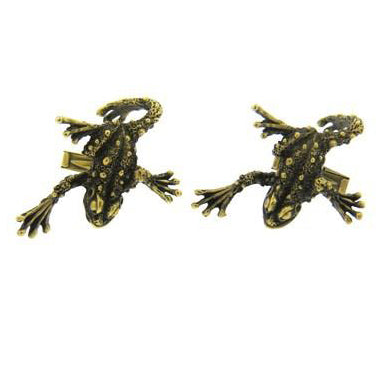 thumbnail image of Gold Frog Cufflinks