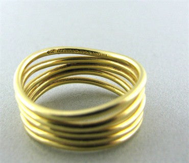 thumbnail image of Estate Tiffany & Co Elsa Peretti Wave 18K Gold Ring