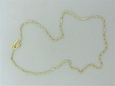 thumbnail image of Temple St. Clair 18K Gold Sapphire Classic Chain Necklace