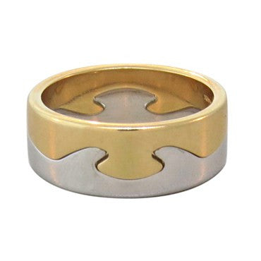 image of Georg Jensen 18k Gold Fusion Stackable Ring Set of 2