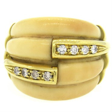 image of 1970s H. Stern Gold Diamond Dome Ring