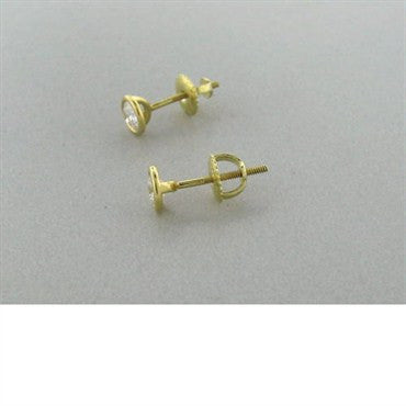 image of Tiffany & Co Peretti 18k Gold Diamond Stud Earrings