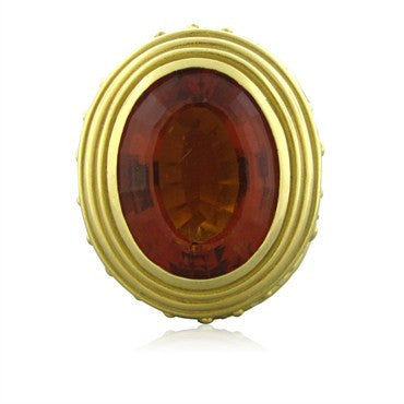 image of Karl Stittgen 18K Yellow Gold Madeira Citrine Ring