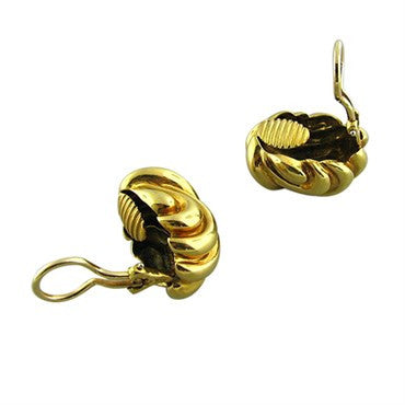 thumbnail image of Tiffany & Co 18K Gold Vintage Earrings