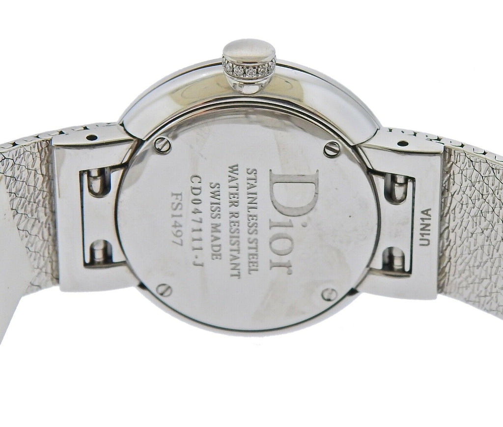 thumbnail image of Dior La D de Dior Satine Mother of Pearl Diamond Watch CD047111M001