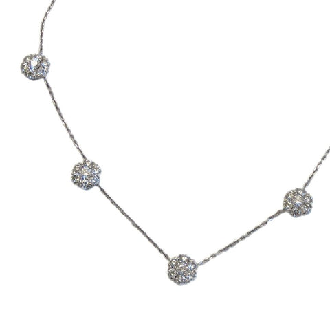 image of Van Cleef & Arpels Large Fleurette Diamond Necklace