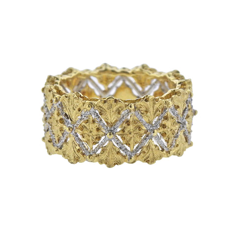 image of Buccellati White Yellow Gold Band Ring