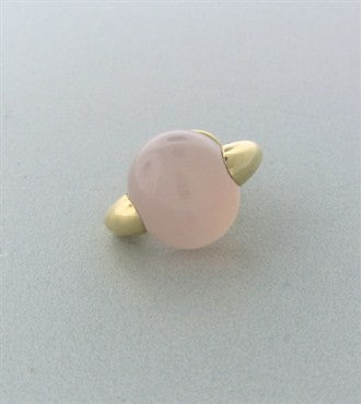 image of Pomellato Luna 18K Gold Rose Quartz Pendant