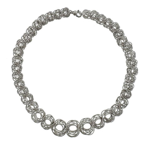 image of Buccellati Gold Circle Link Necklace
