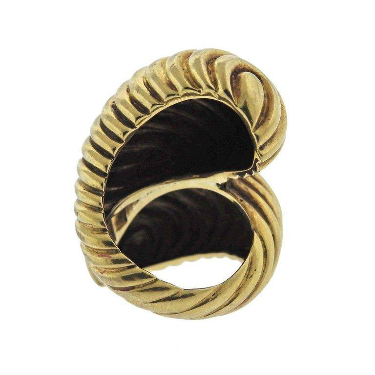 thumbnail image of David Webb Gold Bypass Ring