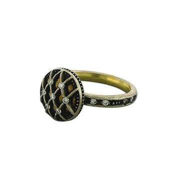 thumbnail image of New Gurhan Capitone Collection 24K Gold Diamond Ring