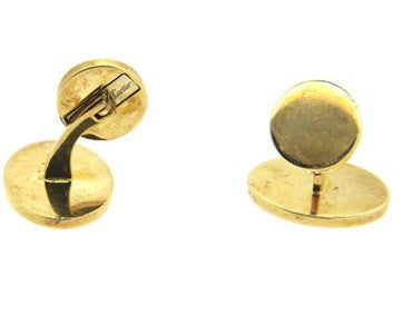 image of Large Classic Cartier 18k Gold Oval Cufflinks