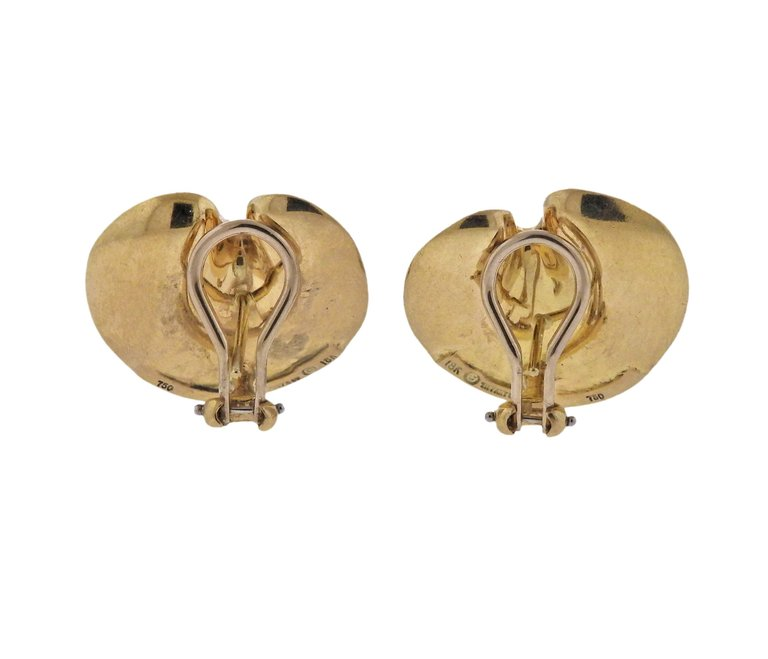 thumbnail image of Tiffany & Co 18k Gold Earrings